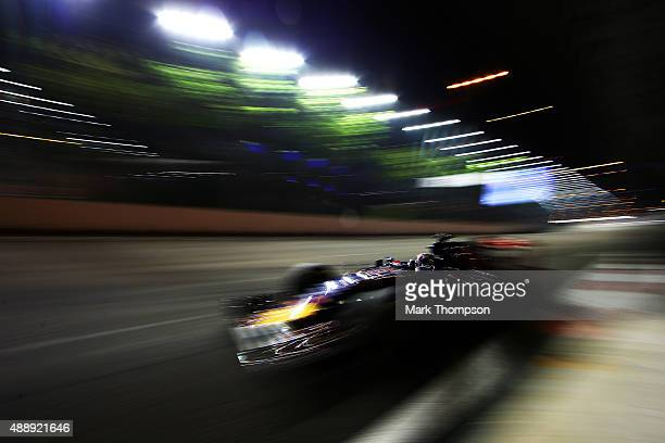 Max Verstappen of Netherlands and Scuderia Toro Rosso drive during practice for the Formula One Grand Prix of Singapore at Marina Bay Street Circuit...