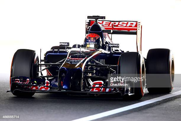 Max Verstappen of Netherlands and Scuderia Toro Rosso drives during practice for the Japanese Formula One Grand Prix at Suzuka Circuit on October 3,...