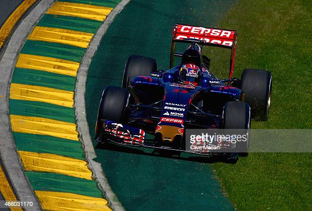 Max Verstappen of Netherlands and Scuderia Toro Rosso drives during practice for the Australian Formula One Grand Prix at Albert Park on March 13...