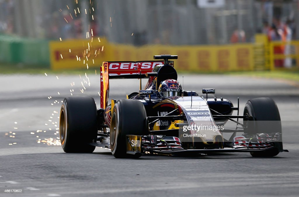 Max Verstappen of Netherlands and Scuderia Toro Rosso drives during final practice for the Australian Formula One Grand Prix at Albert Park on March 14, 2015 in Melbourne, Australia.