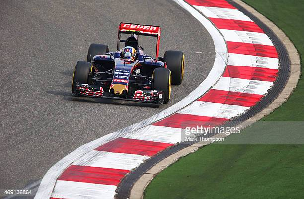 Max Verstappen of Netherlands and Scuderia Toro Rosso drives during practice for the Formula One Grand Prix of China at Shanghai International...