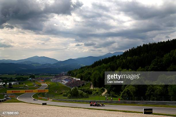 Max Verstappen of Netherlands and Scuderia Toro Rosso drives during practice for the Formula One Grand Prix of Austria at Red Bull Ring on June 19...