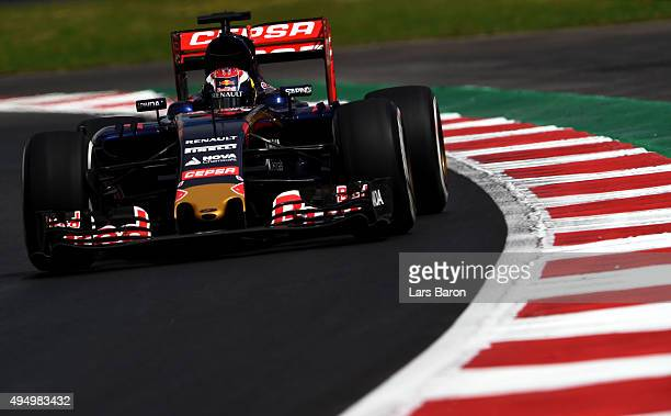 Max Verstappen of Netherlands and Scuderia Toro Rosso drives during practice for the Formula One Grand Prix of Mexico at Autodromo Hermanos Rodriguez...