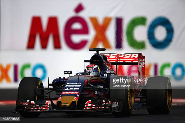 Max Verstappen of Netherlands and Scuderia Toro Rosso drives during the Formula One Grand Prix of Mexico at Autodromo Hermanos Rodriguez on November...