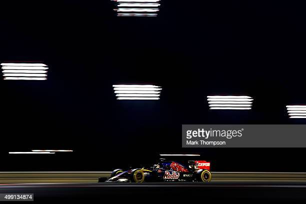 Max Verstappen of Netherlands and Scuderia Toro Rosso drives during the Abu Dhabi Formula One Grand Prix at Yas Marina Circuit on November 29 2015 in...