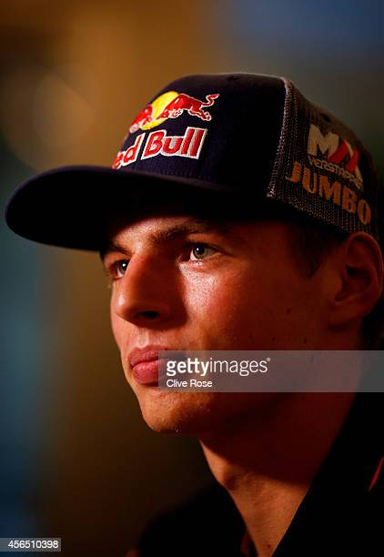 Max Verstappen of Netherlands and Scuderia Toro Rosso speaks to the media ahead of the Japanese Formula One Grand Prix at Suzuka Circuit on October 2...