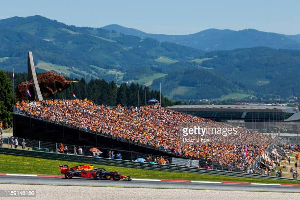 Max Verstappen of Red Bull Racing and The Netherlands during qualifying for the F1 Grand Prix of Austria at Red Bull Ring on June 29 2019 in...