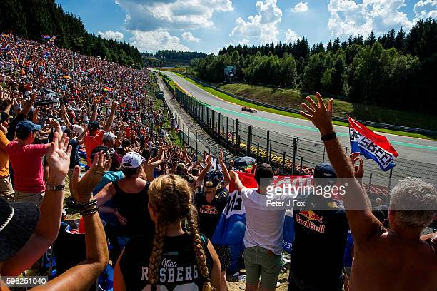 Max Verstappen of Red Bull Racing and The Netherlands during qualifying for the Formula One Grand Prix of Belgium at Circuit de SpaFrancorchamps on...