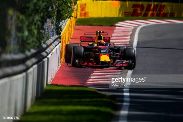 Max Verstappen of Red Bull Racing and The Netherlands during qualifying for the Canadian Formula One Grand Prix at Circuit Gilles Villeneuve on June...