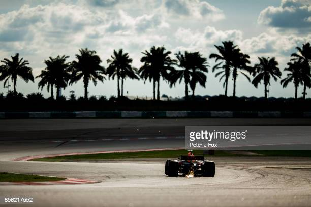 Max Verstappen of Red Bull Racing and The Netherlands during qualifying for the Malaysia Formula One Grand Prix at Sepang Circuit on September 30...