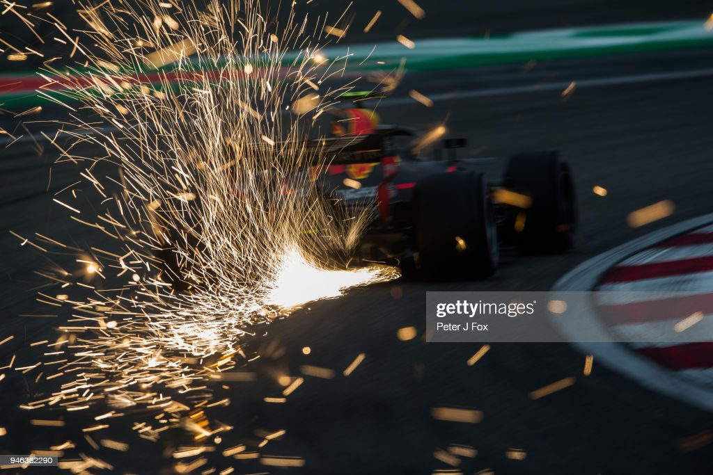 Max Verstappen of Red Bull Racing and The Netherlands during qualifying for the Formula One Grand Prix of China at Shanghai International Circuit on April 14, 2018 in Shanghai, China.