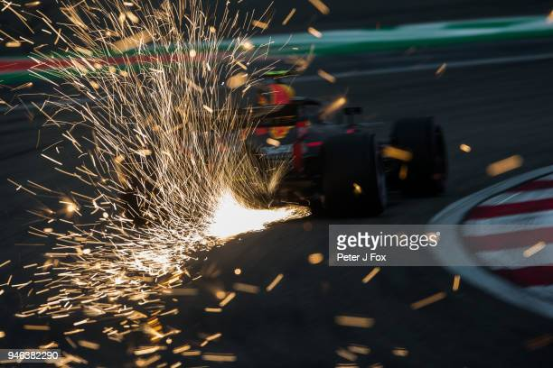 Max Verstappen of Red Bull Racing and The Netherlands during qualifying for the Formula One Grand Prix of China at Shanghai International Circuit on...