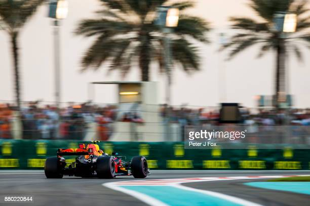 Max Verstappen of Red Bull Racing and The Netherlands during the Abu Dhabi Formula One Grand Prix at Yas Marina Circuit on November 26 2017 in Abu...