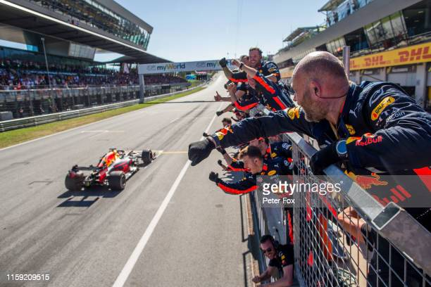 Max Verstappen of Red Bull Racing and The Netherlands during the F1 Grand Prix of Austria at Red Bull Ring on June 30, 2019 in Spielberg, Austria.