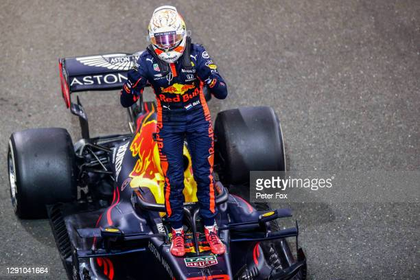 Max Verstappen of Red Bull Racing and The Netherlands during the F1 Grand Prix of Abu Dhabi at Yas Marina Circuit on December 13, 2020 in Abu Dhabi,...