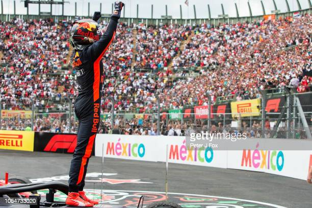 Max Verstappen of Red Bull Racing and The Netherlands during the Formula One Grand Prix of Mexico at Autodromo Hermanos Rodriguez on October 28, 2018...