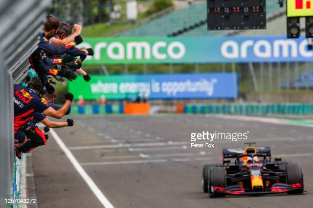 Max Verstappen of Red Bull Racing and The Netherlands during the Formula One Grand Prix of Hungary at Hungaroring on July 19 2020 in Budapest Hungary