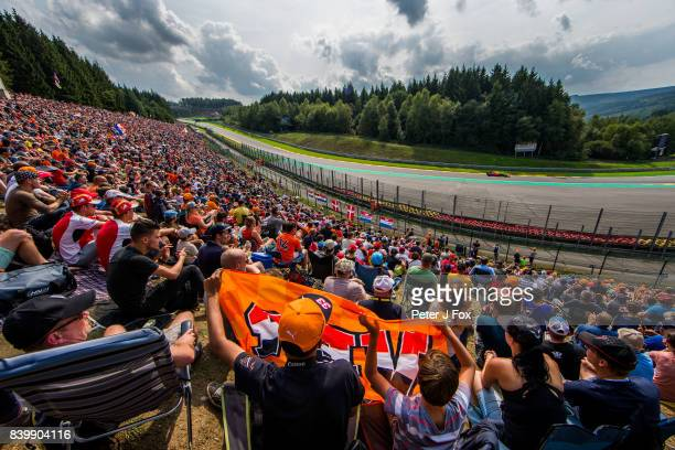 Max Verstappen of Red Bull Racing and The Netherlands during the Formula One Grand Prix of Belgium at Circuit de SpaFrancorchamps on August 27 2017...