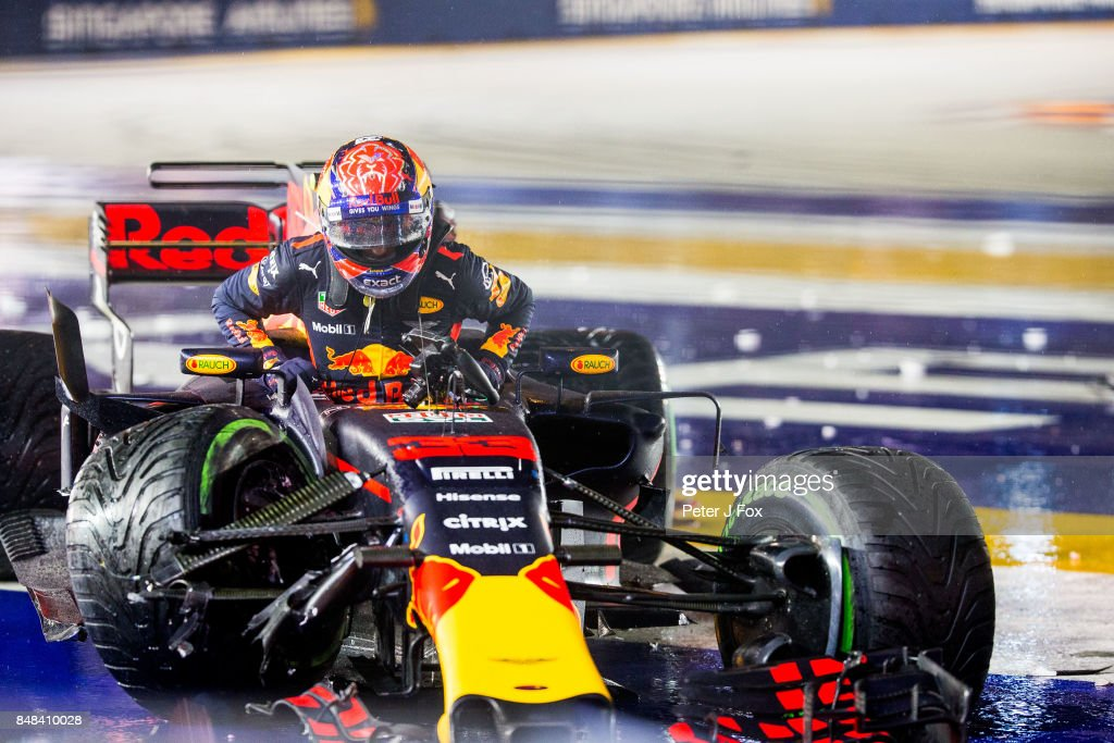 Max Verstappen of Red Bull Racing and The Netherlands during the Formula One Grand Prix of Singapore at Marina Bay Street Circuit on September 17, 2017 in Singapore.