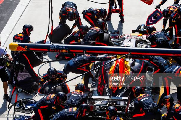 Max Verstappen of Red Bull Racing and The Netherlands during the Formula One Grand Prix of China at Shanghai International Circuit on April 15 2018...