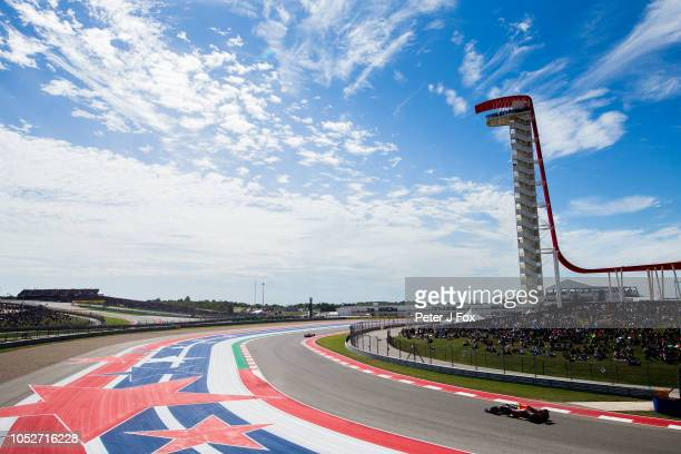 Max Verstappen of Red Bull Racing and The Netherlands during the United States Formula One Grand Prix at Circuit of The Americas on October 21 2018...