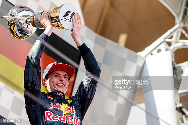 Max Verstappen of Red Bull Racing and The Netherlands during the Spanish Formula One Grand Prix at Circuit de Catalunya on May 15 2016 in Montmelo...