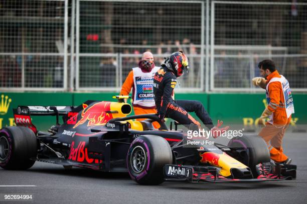 Max Verstappen of Red Bull Racing and The Netherlands during the Azerbaijan Formula One Grand Prix at Baku City Circuit on April 29 2018 in Baku...
