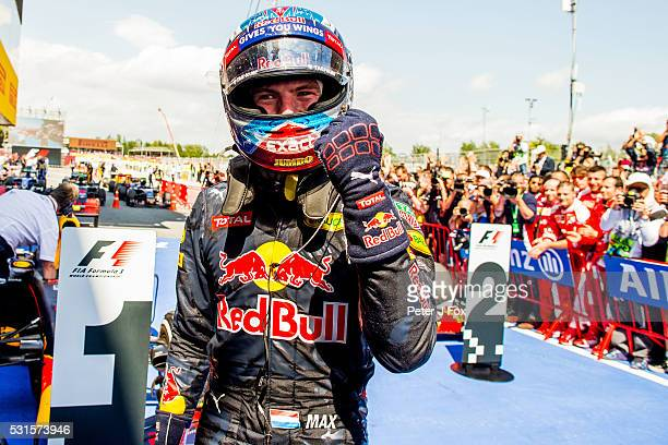 Max Verstappen of Red Bull Racing and The Netherlands wins the Spanish Formula One Grand Prix at Circuit de Catalunya on May 15 2016 in Montmelo Spain