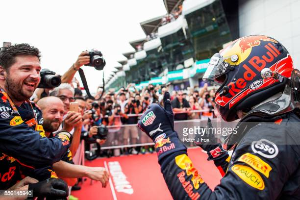 Max Verstappen of Red Bull Racing and The Netherlands Wins the Malaysia Formula One Grand Prix at Sepang Circuit on October 1 2017 in Kuala Lumpur...