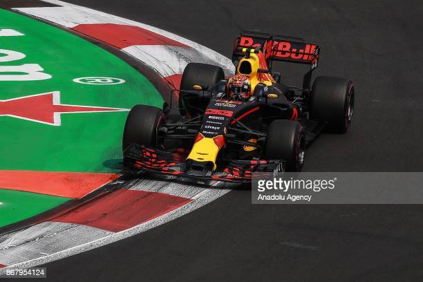 Max Verstappen of Red Bull Racing drives during the Formula One Grand Prix of Mexico at Autodromo Hermanos Rodriguez in Mexico City Mexico on October...