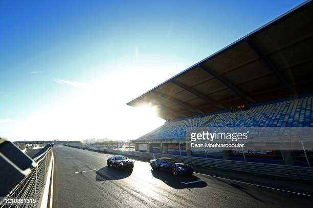 Max Verstappen of Red Bull Racing is pictured driving with his father, Jos Verstappen as he drives the first laps at the official opening in an Aston...