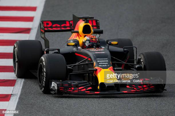 Max Verstappen of Red Bull Racing Team driving his car during the Formula One preseason tests on May 8 2017 in Barcelona Spain