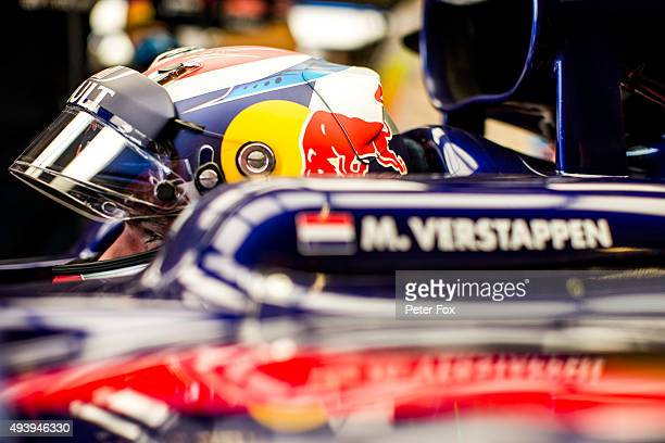 Max Verstappen of Scuderia Toro Rosso and The Netherlands during practice for the United States Formula One Grand Prix at Circuit of The Americas on...