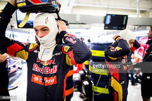 Max Verstappen of Scuderia Toro Rosso and The Netherlands during practice for the Formula One Grand Prix of Mexico at Autodromo Hermanos Rodriguez on...