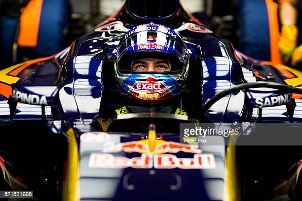 Max Verstappen of Scuderia Toro Rosso and The Netherlands during qualifying for the Formula One Grand Prix of China at Shanghai International Circuit...