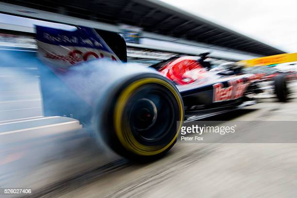 Max Verstappen of Scuderia Toro Rosso and The Netherlands during practice for the Formula One Grand Prix of Russia at Sochi Autodrom on April 29 2016...