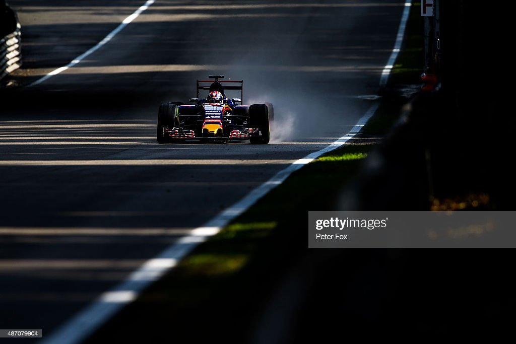 Max Verstappen of Scuderia Toro Rosso and The Netherlands during final practice for the Formula One Grand Prix of Italy at Autodromo di Monza on September 5, 2015 in Monza, Italy.