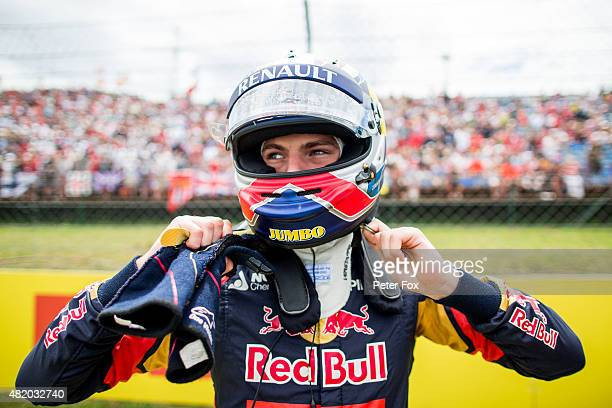 Max Verstappen of Scuderia Toro Rosso and The Netherlands during the Formula One Grand Prix of Hungary at Hungaroring on July 26, 2015 in Budapest,...