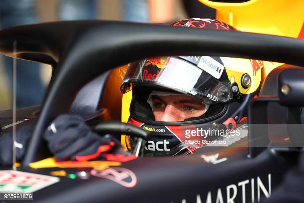 CATALUNYA MONTMELò BARCELONA SPAIN Max Verstappen of the Netherlands and Aston Martin Red Bull Racing Tag Heuer during day two of F1 Winter Testing