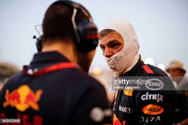 Max Verstappen of the Netherlands and Aston Martin Red Bull Racing prepares to drive on the grid before the Bahrain Formula One Grand Prix at Bahrain