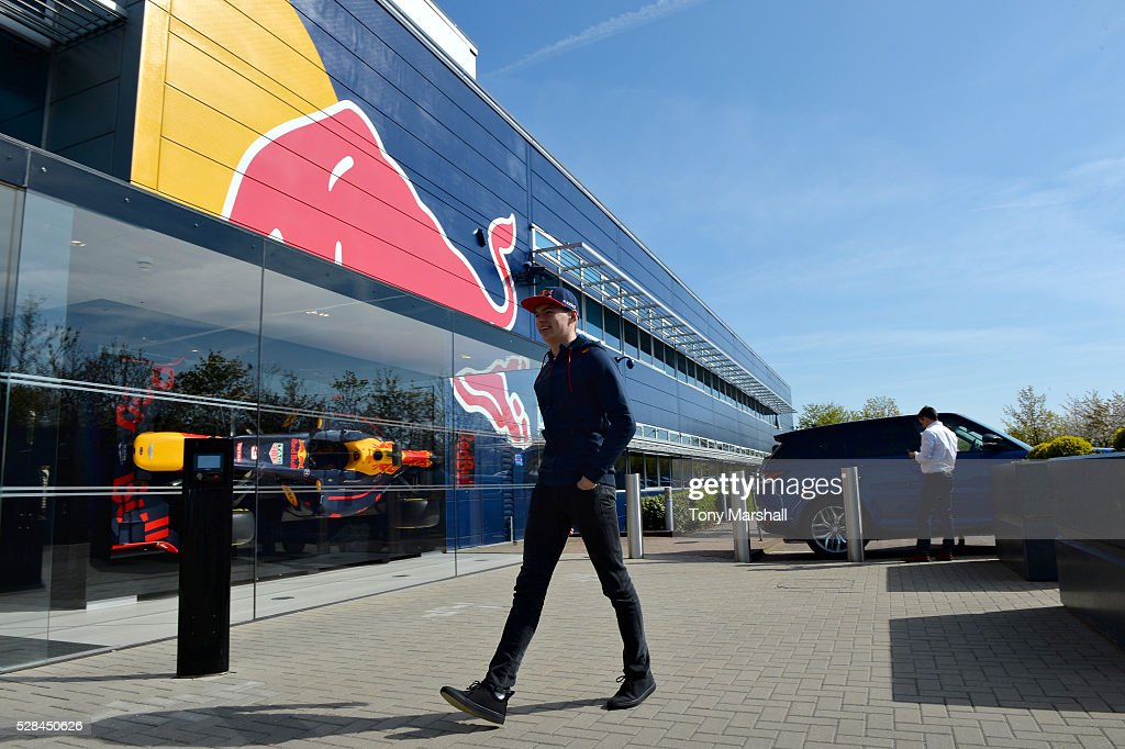 Max Verstappen at Red Bull Racing Factory