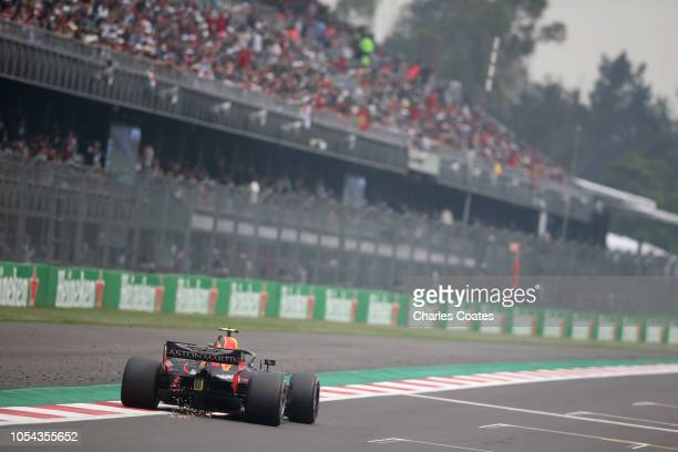 Max Verstappen of the Netherlands driving the Aston Martin Red Bull Racing RB14 TAG Heuer on track during qualifying for the Formula One Grand Prix...