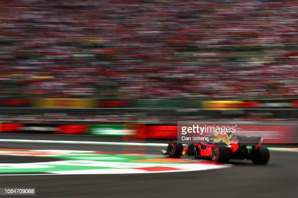 Max Verstappen of the Netherlands driving the Aston Martin Red Bull Racing RB14 TAG Heuer on track during the Formula One Grand Prix of Mexico at...