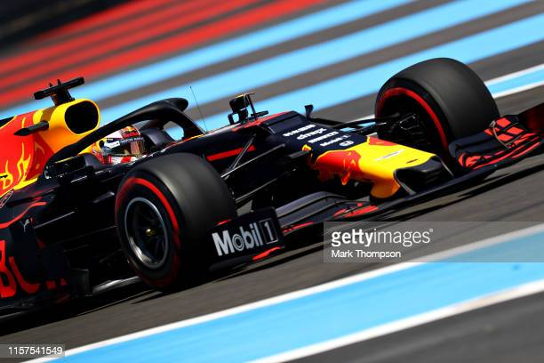 Max Verstappen of the Netherlands driving the Aston Martin Red Bull Racing RB15 on track during final practice for the F1 Grand Prix of France at...