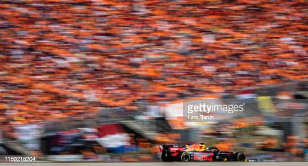 Max Verstappen of the Netherlands driving the Aston Martin Red Bull Racing RB15 on track during the F1 Grand Prix of Austria at Red Bull Ring on June...
