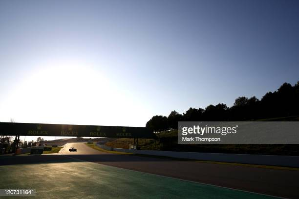 Max Verstappen of the Netherlands driving the Aston Martin Red Bull Racing RB16 on track during day one of Formula 1 Winter Testing at Circuit de...