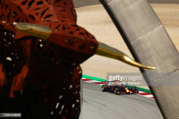 Max Verstappen of the Netherlands driving the Aston Martin Red Bull Racing RB16 on track during practice for the F1 Grand Prix of Styria at Red Bull...