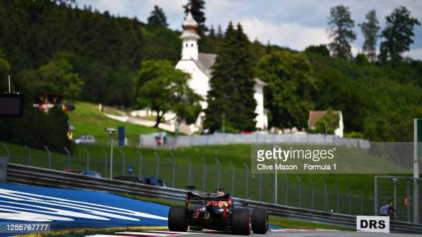 Max Verstappen of the Netherlands driving the Aston Martin Red Bull Racing RB16 during the Formula One Grand Prix of Styria at Red Bull Ring on July...