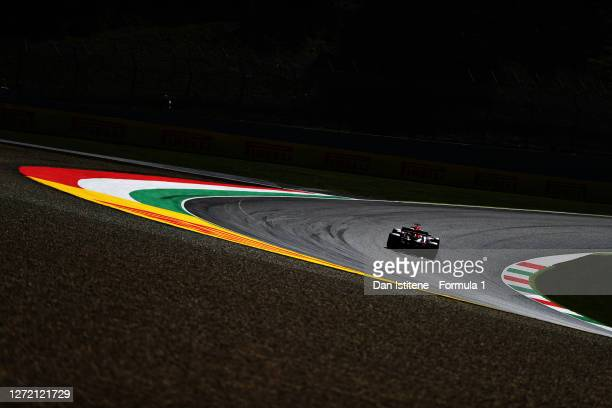 Max Verstappen of the Netherlands driving the Aston Martin Red Bull Racing RB16 on track during final practice ahead of the F1 Grand Prix of Tuscany...
