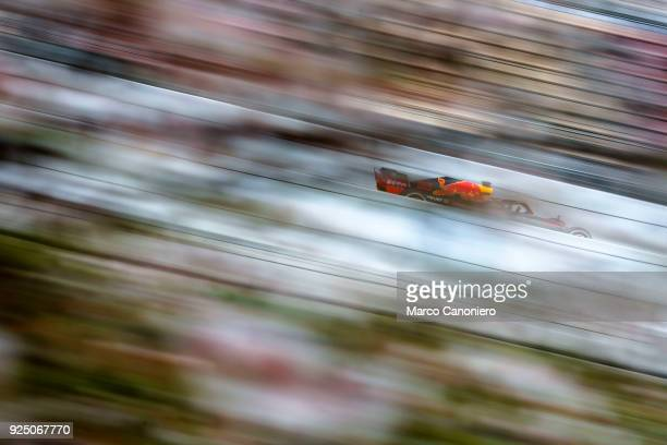 CATALUNYA MONTMELò BARCELONA SPAIN Max Verstappen of the Netherlands driving the Aston Martin Red Bull Racing RB14 TAG Heuer on track during day two...